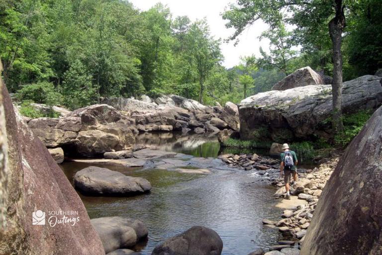 Riverbed hiking