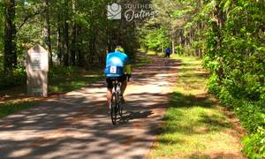 A pair of road cyclists on the Silver Comet Trail